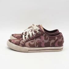 Coach Dee Signature Plum Pink Canvas Sneakers Shoes Sz 5B