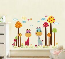 Lindo Ciervo Selva pegatinas de pared calcomanía Niños Bebé Habitación Mural De Papel Hogar Arte Decoración