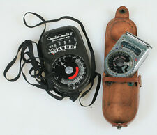 ART DECO LIGHT METERS VINTAGE SET OF 2 , AS IS FOR PARTS