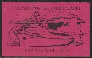 Canada Cinderella: cc5160 Canada Postal Strike 1981 - $1.85 magenta MNH - dw817f