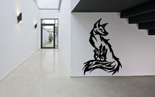 Wall Room Decor Art Vinyl Sticker Mural Decal Tribal Tattoo Fox Beautiful DA065