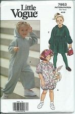 Vogue 7953 sewing pattern DRESS JUMPSUIT ROMPER sew EASY child sizes 4,5,6 UNCUT