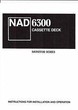Nad manual de instrucciones para 6300 user owner's manual inglés