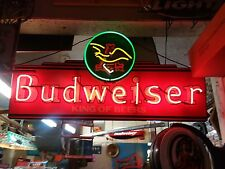 Rare!!!  Anheuser Busch Vintage Budweiser King of Beers Neon Light Sign (READ)