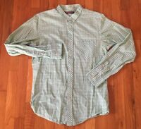 Men's Ben Sherman Heritage Green White Check Long Sleeve Button Front Shirt M