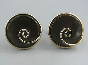 Mens Vintage CUFFLINKS ART DECO Mauve Mother of Pearl Costume Jewelry N57