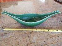 "Very Nice Vintage 15"" Hull Pottery USA Green Continental 51 Console Bowl Planter"
