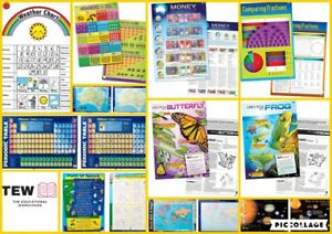 Educational Posters Charts Teacher Resource Maths Literacy Science Gillian Miles