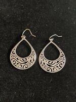 Silpada Indonesia Sterling Silver 925 Cut Out Drop Dangle Earrings
