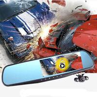 "CA Full HD 1080P 4.3"" Video Recorder Dash Cam Rearview Mirror Car Camera DVR"