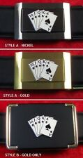 ROYAL FLUSH - CUSTOM BELT BUCKLE