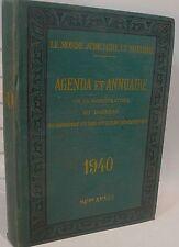 AGENDA ET ANNUAIRE   de la magistrature 1940…World FREE Shipping*
