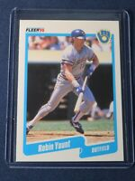 1990 Fleer ROBIN YOUNT Milwaukee Brewers Baseball Card #340 MINT Free Shipping!