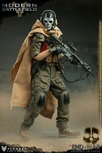 "FLAGSET MODERN BATTLEFIELD ENDWAR GHOST V 12"" 1/6 FIGURE CALL OF DUTY US SELLER"