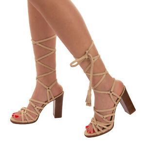 RRP €615 MICHAEL KORS COLLECTION Leather Strappy Sandals EU 39 UK 6 US 8.5 Heel