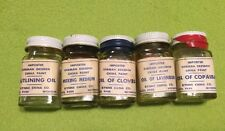 Vintage ~ German Dresden ~ China Paint  ~ Oils ~ Mixing Medium ~ Lot Of 5
