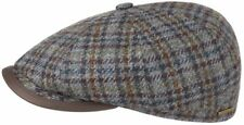 STETSON EUROPE 8/4 VIRGIN WOOL M 57cm 7 1/8 BLUE NEWSBOY PAPERBOY CABBY CAP