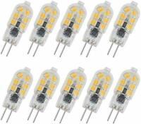 2835 2W G4 LED Bulb AC/DC 12V Bi Pin Base Milky/Transparent Case 12-SMD th