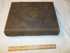 RARE EARLY 1800'S HUGE LEATHER BOUND JOHN BROWNS HOLY BIBLE OLD NEW TESTAMENTS