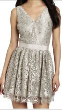 NWT Robert Rodriguez Silver Lace Sleeveless Dress size 4 $ 480