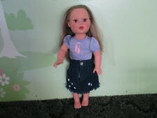 "MADAME ALEXANDER 2009 Long BLONDE Hair 18"" DOLL Brown EYES  Laura Ashley Skirt"