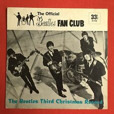 THE BEATLES -The Beatles Third Christmas Record- 1965 Flexi Disc +Pic sleeve