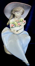 LLADRO FRAGRANT BOUQUET BRAND NIB #5862 GIRL SITTING WITH FLOWERS $100 OFF F/SH