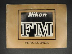 Nikon FM 1980 SLR Camera Instruction Book / User Manual / Guide