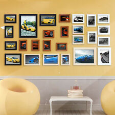 26 Pcs Word Family Is Photo Picture Frame Collage Set Black Home Wall Art Decor