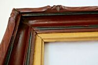 "ANTIQUE FITS 8 X 21"" ADIRONDACK VICTORIAN GOLD GILT WALNUT PICTURE FRAME CARVED"
