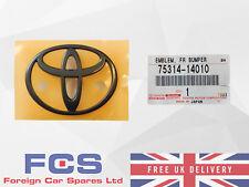 Nuevo Genuino Toyota Supra JZA80 Negro Parachoques Delantero Insignia Emblema 75314-14010