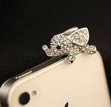 Anti Dust Plug For Samsung Galaxy S6 S5 S4 S3 S2 Note2 3 4 5 Fly Elephant Silver