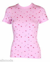 Reebok Mujer Rosa Camiseta Talla 36 10 XS Pequeño Nuevo Con Etiqueta Fast EU 34
