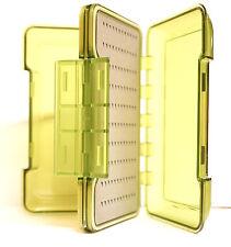 Fliegenbox GRÜN doppellagig Triangel Foam 15,5 x 9 x 4 cm Deckel transparent