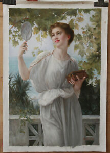 Fine art repro oil painting on canvas A Spring Beauty by Vittorio Matteo Corcos