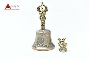 4.25 Inch Tibetan Buddhist Meditation  Puja Bell Bronze, Dorje(Vajraby) SNSCraft