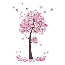 Pink Fairy Butterfly Trees Girls Wall Sticker Living Room Children Bedroom Decor