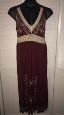 MLLE GABRIELLE  Womans Size M Sleeveless V-Neck Summer Boho Maxi Dress NEW