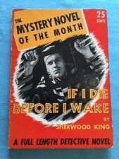 IF I DIE BEFORE I WAKE - FIRST PAPERBACK BY SHERWOOD KING