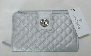 VERA BRADLEY - Iconic Turnlock Wallet - Silver Pearl - New with Tag - GORGEOUS!