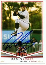 Pablo Lopez 2017 Modesto Nuts Autographed Signed Card
