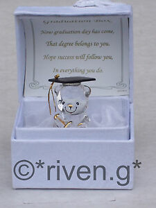 BEAR@GRADUATION GIFT Box@Glass@Card Verse@Scrolls@UNIQUE keepsake@DEGREE MEMENTO