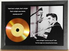 ELVIS PRESLEY 'THAT'S ALL RIGHT' SUN RECORDS SIGNED PRESENTATION PHOTO/DISC