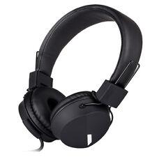 Rockpapa Foldable Headsets Headphones FR iPhone Samsung LG Nokia iPod iPad Black
