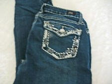 Earl Jean Embellished 5 Pocket Stretch Jeans Size 6 Straight Leg