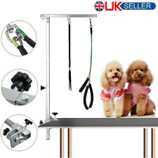 More details for adjustable pet dog grooming table arm non slip foldable desk bracket set uk