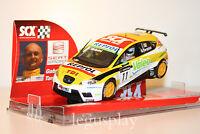 """Slot SCX Scalextric 63540 Seat León WTCC """"Seat Sport"""" - G.Tarquini"""