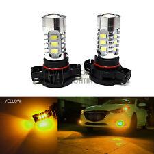 2x H16 5202 LED Bulbs High Power DRL SMD 5730 Fog Light Projector Golden Yellow