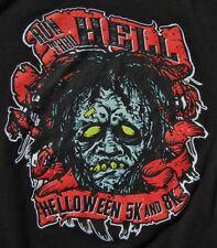 Run Thru Hell Helloween 5K Halloween Zombie Monster Mens T-Shirt Size Medium