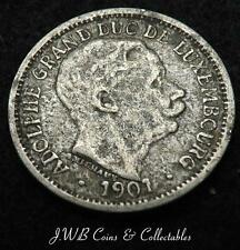 1901 Luxembourg 10 Centimes Coin